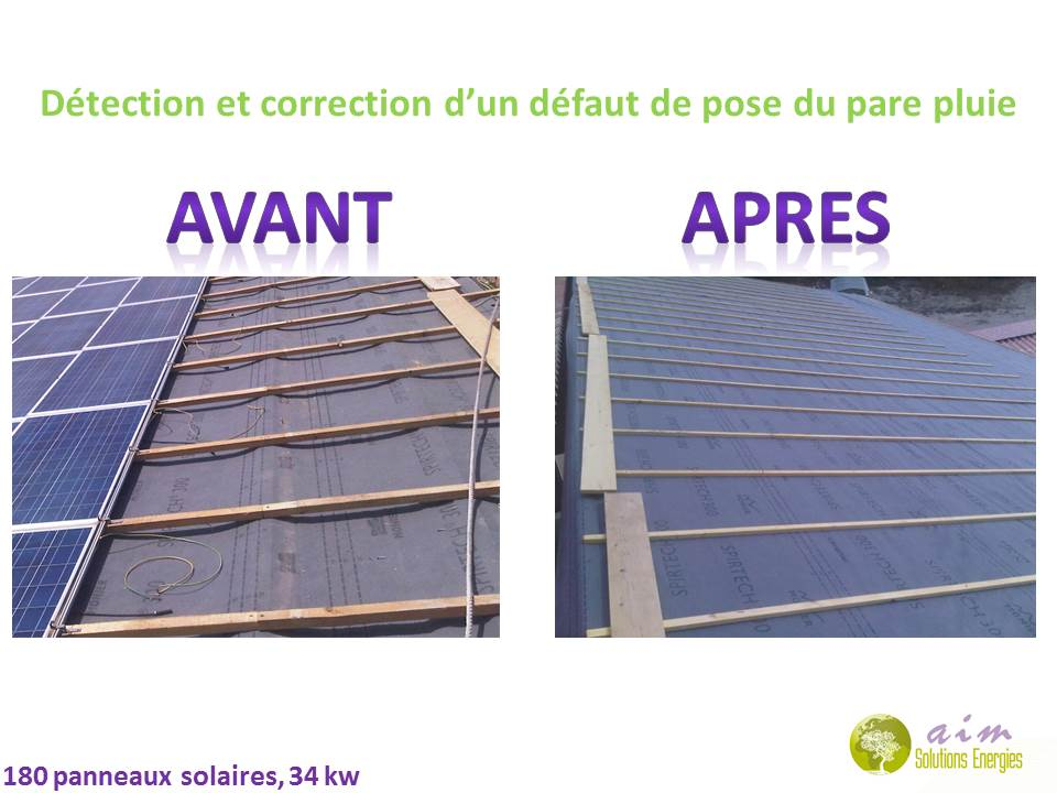 AIM Solutions Energies : pose pare vapeur photovoltaique