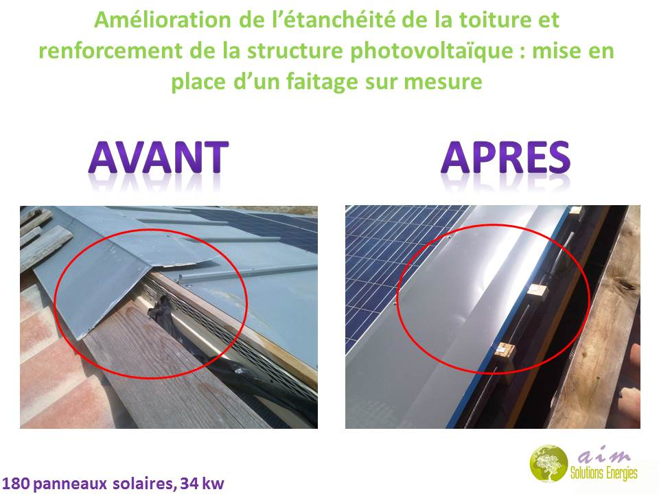AIM Solutions Energies : reprise de faitage solaire